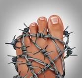 foten smärtar Fotografering för Bildbyråer