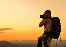 Fotógrafo da natureza Imagens de Stock Royalty Free