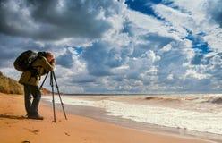 Fotógrafo da paisagem Fotos de Stock Royalty Free