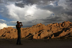 Fotógrafo de la naturaleza Imagen de archivo