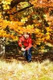 Fotógrafo del otoño Imagen de archivo libre de regalías