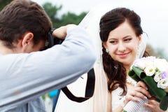 Fotógrafo do casamento Imagens de Stock Royalty Free