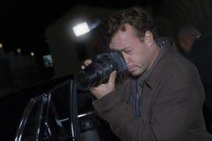 Fotógrafo At Media Event Imagenes de archivo