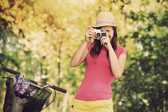 Fotógrafo retro Imagens de Stock Royalty Free