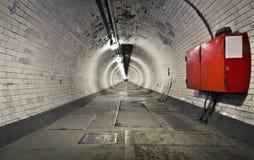 fotgreenwich tunnel Fotografering för Bildbyråer