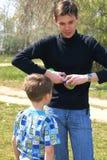 fother γιος Στοκ Φωτογραφία