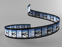 Foto. A 3d maded photofilm on a grey background Royalty Free Stock Image