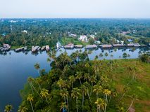 Foto aérea da Índia de Alappuzha foto de stock royalty free