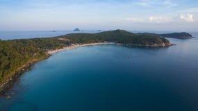 Foto aérea da ilha de Perhentian em Malásia Fotografia de Stock