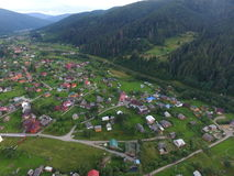 Foto aérea da vila Fotos de Stock Royalty Free
