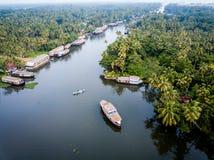 Foto aérea de Alappuzha la India Fotografía de archivo libre de regalías