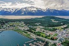Foto aérea de Alaska Haines fotos de archivo