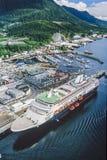 Foto aérea de Alaska Juneau foto de archivo