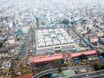 Foto aérea de Bangalore en la India fotos de archivo