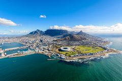 Foto aérea de Cape Town 2 foto de stock