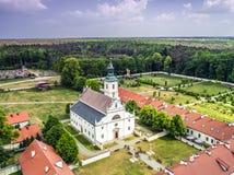 Foto aérea de Klasztor Rytwiany Polonia fotografía de archivo