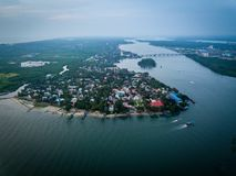 Foto aérea de Kochi na Índia imagem de stock