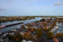 Foto aérea de la ciudad Dordrecht, Países Bajos Fotografía de archivo