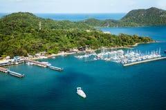 Foto aérea de la isla de Langkawi, Malasia Imagen de archivo libre de regalías