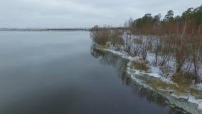 Foto aérea de la naturaleza almacen de video