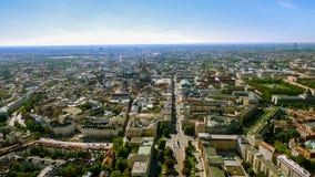 Foto aérea de la vista de pájaro del paisaje urbano de Munich Imágenes de archivo libres de regalías