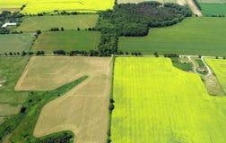 Foto aérea de las tierras de labrantío fotos de archivo