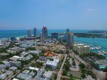 Foto aérea de Miami Beach imagens de stock royalty free