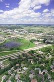 Foto aérea de Middleton Wisconsin Imagenes de archivo