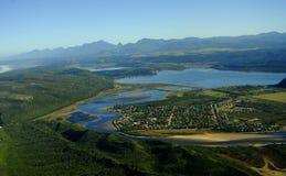 Foto aérea de Sedgefield, ruta del jardín, Suráfrica imágenes de archivo libres de regalías