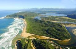 Foto aérea de Sedgefield, ruta del jardín, Suráfrica fotos de archivo