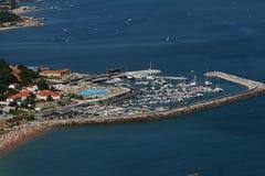 Foto aérea de um porto foto de stock royalty free