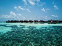 Foto aérea del abejón - las islas hermosas de Maldivas imagenes de archivo