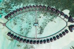 Foto aérea del abejón - las islas hermosas de Maldivas fotografía de archivo