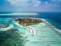 Foto aérea del abejón - las islas hermosas de Maldivas imagen de archivo