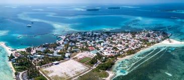 Foto aérea del abejón - las islas hermosas de Maldivas foto de archivo libre de regalías
