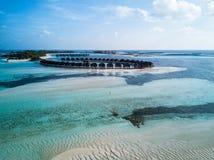 Foto aérea del abejón - las islas hermosas de Maldivas foto de archivo