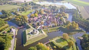 Foto aérea del fuerte Bourtange en Groninga, los Países Bajos imagenes de archivo