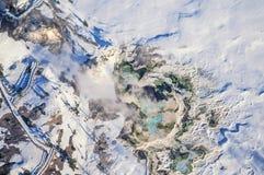 Foto aérea del mamut del parque de Yellowstone Fotografía de archivo