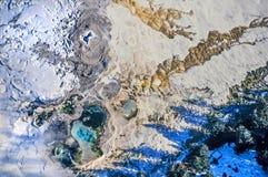Foto aérea del mamut del parque de Yellowstone Foto de archivo libre de regalías