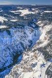 Foto aérea del parque de Yellowstone Imagen de archivo libre de regalías