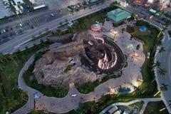 Foto aérea do zangão da estátua de Gulfstream Pegasus imagens de stock royalty free