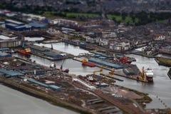 Foto aérea Edingburg Fotografia de Stock