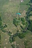 Foto aérea, floresta, prado Fotografia de Stock Royalty Free