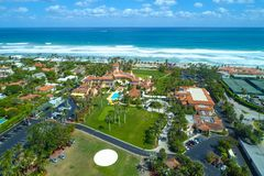 Foto aérea marcha un Palm Beach la Florida los E.E.U.U. de Lago fotos de archivo libres de regalías