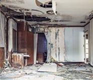 Foto abandonada do hotel imagens de stock