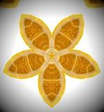 Foto abstracta de la naranja de la mandala Imagen de archivo libre de regalías