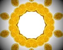 Foto abstracta de la naranja de la mandala Fotos de archivo libres de regalías