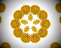Foto abstracta de la naranja de la mandala Imagenes de archivo