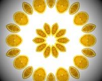 Foto abstracta de la naranja de la mandala Foto de archivo