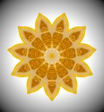Foto abstrata da laranja da mandala Fotografia de Stock Royalty Free